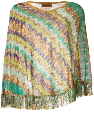 Missoni patterned poncho