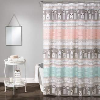 "Lush Decor 72""x72"" Llama Stripe Shower Curtain"