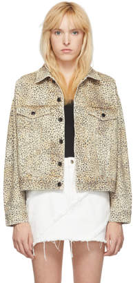 Alexander Wang Tan Cheetah Denim Game Jacket