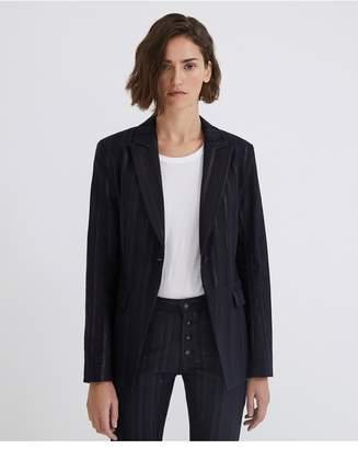 AG Jeans The Keats Tailored Blazer - Gunmetal Metallic Stripe