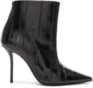 Saint Laurent Eel Leather Pierre Stiletto Ankle Boots