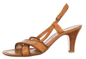Marc Jacobs Leather Slingback Sandals
