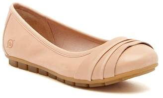Børn Agnes Pleated Leather Flat