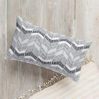 Organic Herringbone Lumbar Pillow