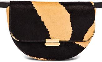 Wandler Big Anna Leather Belt Bag in Beige Zebra   FWRD