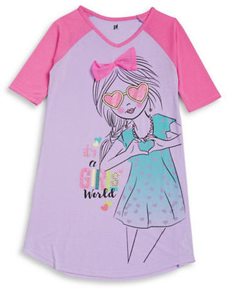 Petit Lem Girl's Glitter World Nightgown $28 thestylecure.com