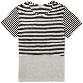 Onia Striped Linen And Modal-Blend T-Shirt