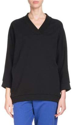 Kenzo V-Neck Logo Sport Pullover Sweatshirt