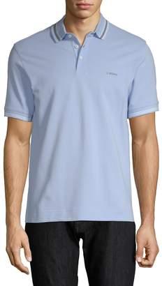 Zegna Men's Stripe Polo Shirt
