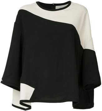 Henrik Vibskov loose colour-block blouse