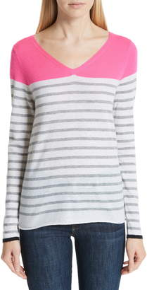 Majestic Filatures Stripe Cashmere Sweater