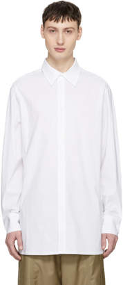 D.gnak By Kang.d White Slit Shirt