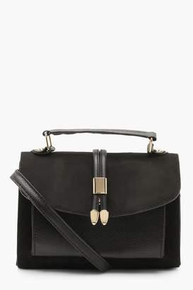 boohoo Suedette & PU Cross Body Bag