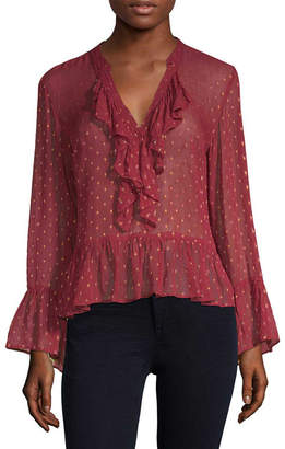 Plenty by Tracy Reese Polka Dot Bell Sleeve Blouse