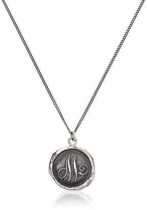 "Pyrrha talisman"" Sterling Letter M Necklace"