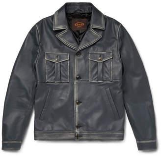 Tod's Waxed Nappa Leather Pilot Jacket