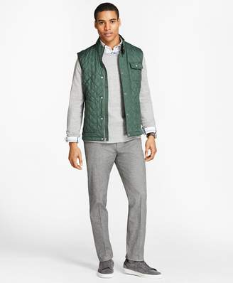 Brooks Brothers Diamond-Quilted Vest