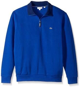 Lacoste Men's Rib Interlock 1/2 Zip Sweatshirt