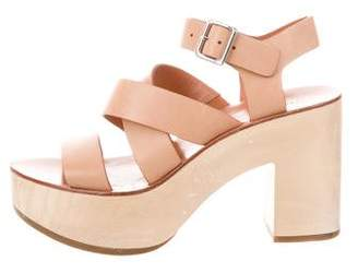Loeffler Randall Platform Leather Sandals