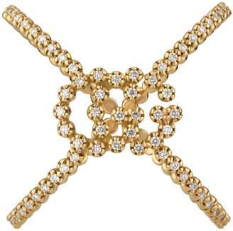 c5a8d2e125e Gucci GG Running diamond X ring