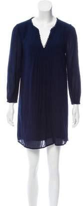 Diane von Furstenberg Scallop Accented Shift Dress