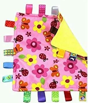 Kids II Taggies Little Taggies Blanket, Pink Flowers and Butterflies by Taggies