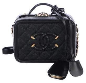 Chanel 2017 Small Filigree Vanity Case