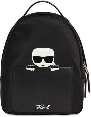 Karl Lagerfeld Small Ikonik Nylon Backpack