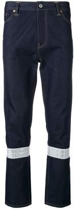 Junya Watanabe contrasting knee slim-fit jeans
