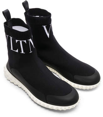 Valentino (ヴァレンティノ) - Valentino VLTN High Top Sock Sneakers