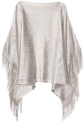 Orchid Row's Shimmery Swim Suit Cover Up Open Knit Poncho O/S