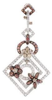 18K Diamond & Orange Sapphire Pendant