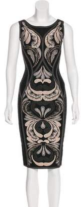 Herve Leger Abstract Print Bandage Dress