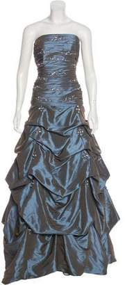 Jovani Embellished Ruched Gown