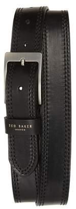 Ted Baker Crikiit Stitched Leather Belt