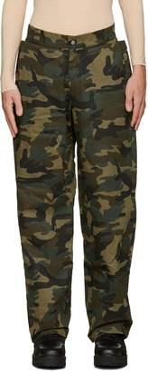 Hood by Air Green Camo Uniform Sag Trousers $360 thestylecure.com