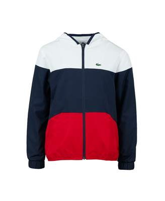 Lacoste Sport Tri Colour Lightweight Jacket Colour: RED WHITE NAVY, Si