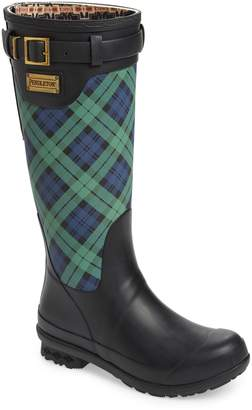Pendleton Heritage Black Watch Tartan Tall Waterproof Boot