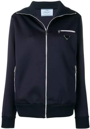 Prada logo patch track jacket