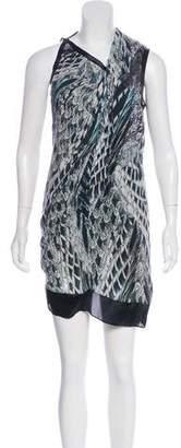 Helmut Lang Pheasant Print Shift Dress w/ Tags