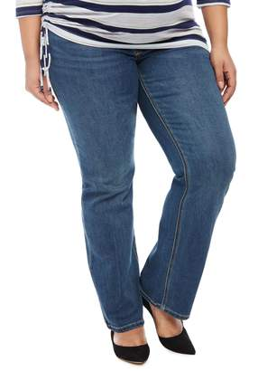 Motherhood Maternity Jessica Simpson Plus Size Secret Fit Belly Boot Cut Maternity Jeans