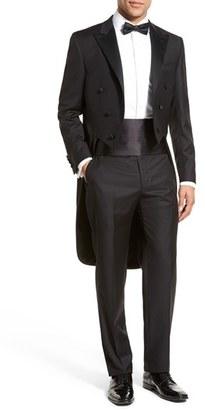 Men's Hickey Freeman Classic Fit Tasmanian Wool Tailcoat Tuxedo $1,895 thestylecure.com
