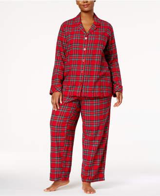Matching Family Pajamas Plus Size Women's Brinkley Plaid Pajama Set