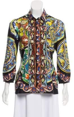 Dolce & Gabbana Sicilian Button-Up Top