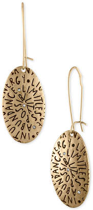 Rachel Roy Gold-Tone Etched Inspiration Drop Earrings