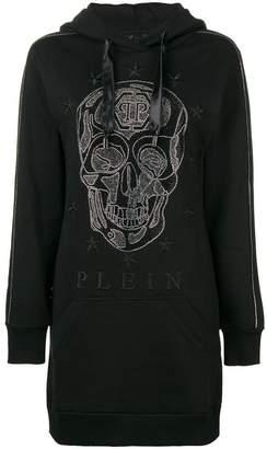 Philipp Plein tunic-length hoodie