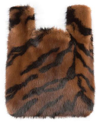 Simonetta Ravizza Furrissima Baby Tiger-Stripe Mink Fur Tote Bag