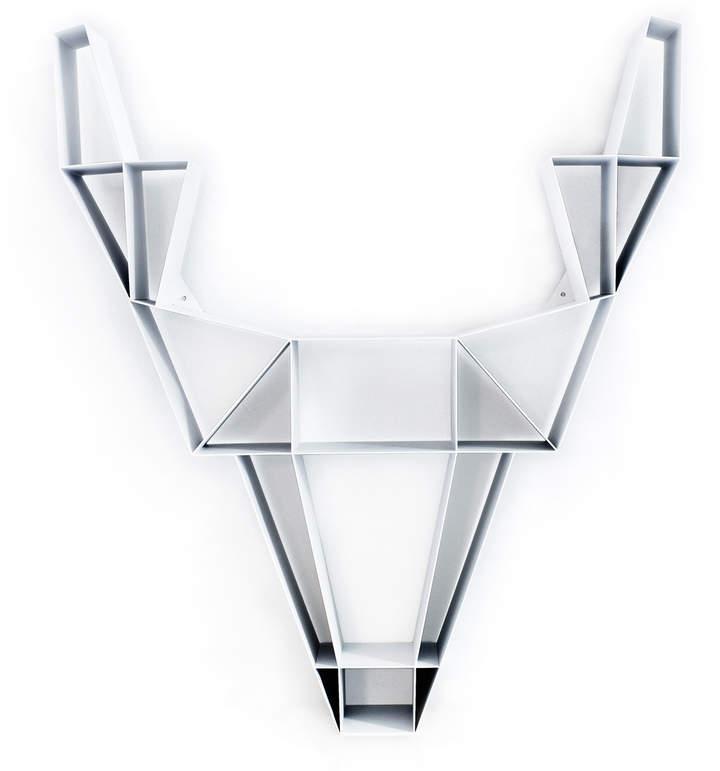 BEdesign - Deer Metall groß, Weiß