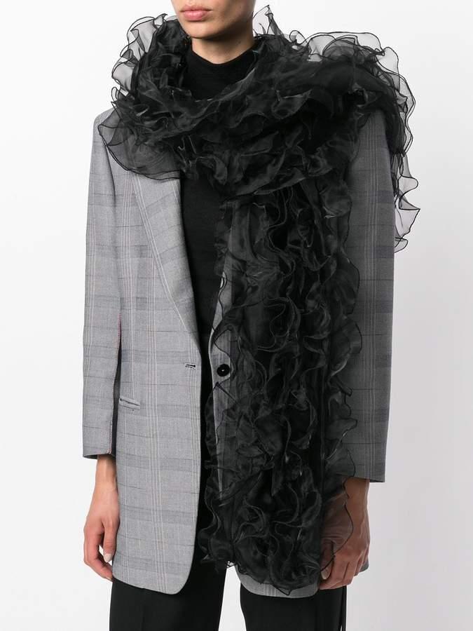 Armani Collezioni ruffled scarf
