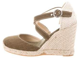 Bettye Muller Ankle Strap Espadrille Wedges